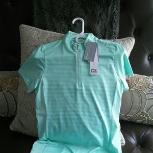 Ladies Cutter and Buck Golf Mock- neck
